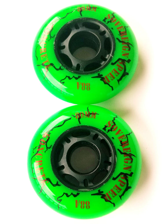 76mm outdoor inline skate wheels, rollerblade hockey 2 pack