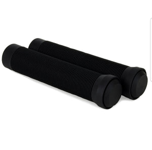 Pair Black Soft Flangeless Pro Scooter/Bike Handle Bar Grips