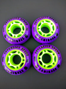 4x 59mm Indoor-Outdoor Inline Skate Wheels, KIDS YOUTH rollerblade roller hockey 78a