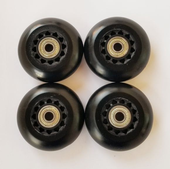 72mm inline skate wheels with bearings, rollerblade 82a outdoor