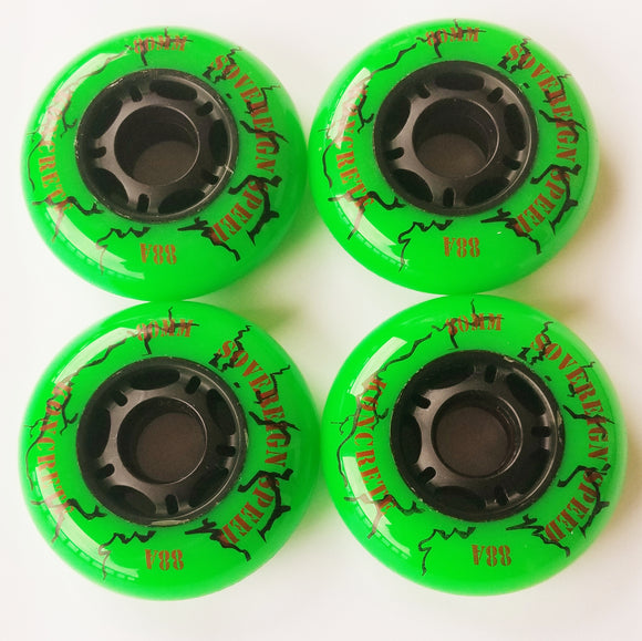 64mm outdoor inline skate wheels, rollerblade hockey 4 pack