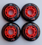 4 pack 76mm outdoor inline rollerblade hockey skate wheels