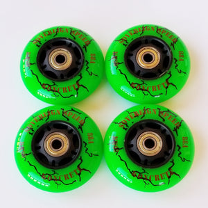 80mm outdoor rollerblade inline skate wheels with bearings