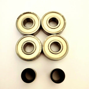 bones ceramic skate bearings with spacer for pro scooters skateboards longboards roller skates rollerblade razor ripstiks and more 608rs 8mm