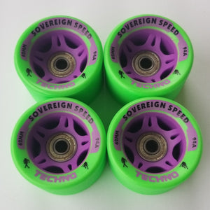 roller skate wheels with bearings, 4 pack 62mm 94A