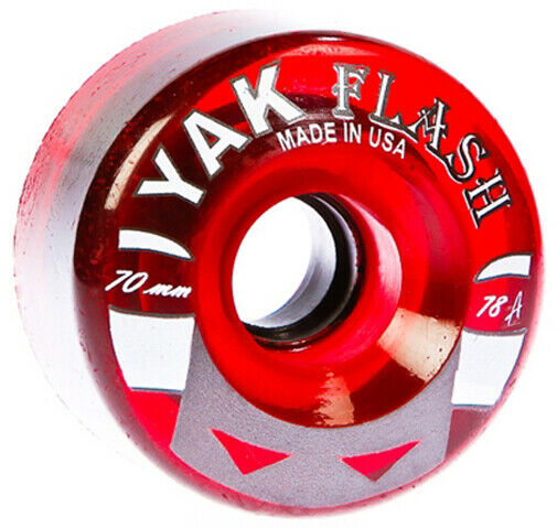 70mm Longboard wheels 78a hardness 4-pack red soft smooth