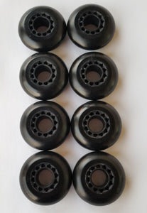 72mm outdoor inline skate wheels, rollerblade 82a black 8-pack