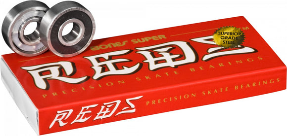 8-Pack Bones Super Reds Skateboard Bearings / FREE 1-3 Day US Shipping