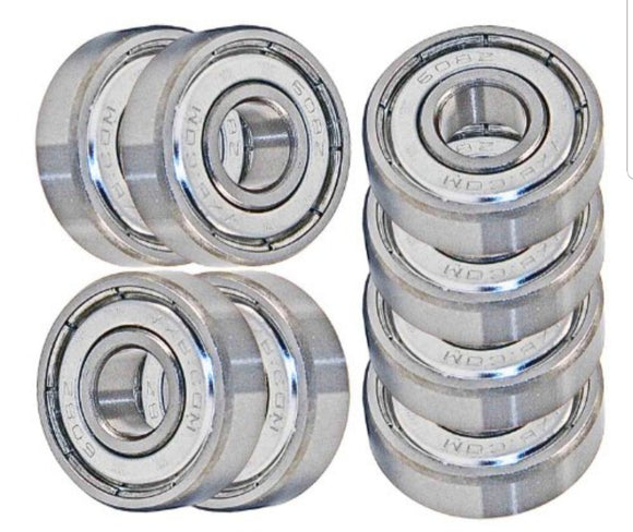 8 pack skateboard longboard 608zz bearings, abec 7 inline/roller/hockey