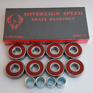 abec-9 skate bearings with spacers