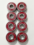 8-Pack Supreme Abec-9 Skateboard Bearings, with Spacers & Speed Ring Washers , longboard roller inline scooter 608rs - FREE 1-3 Day US Shipping