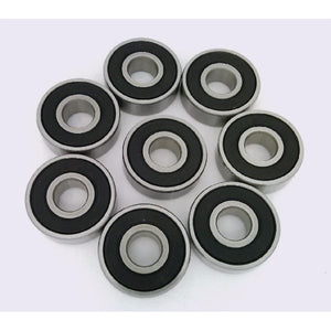 8 Pack Skateboard Bearings 608 8mm longboard/inline/hockey/roller skate/rollerblade