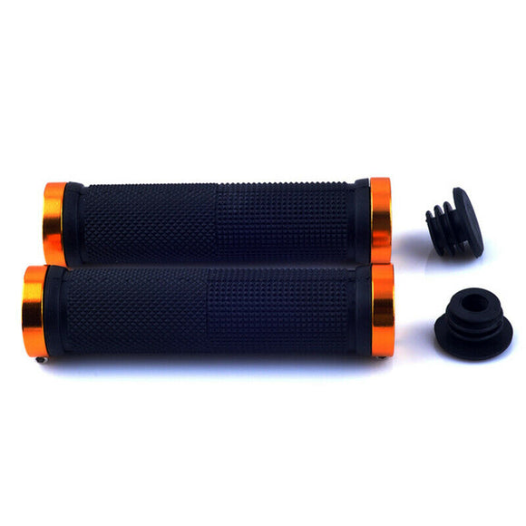 Pair Double Lock On Locking Mountain BMX Bike Bicycle Cycling Handle Bar Grips scooter
