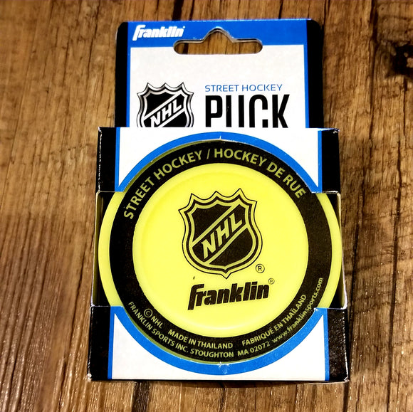 street hockey puck nhl franklin sports for smooth floors