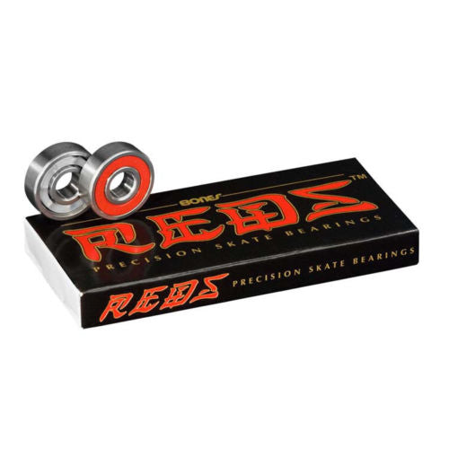 Bones Reds Skateboard Bearings 608 precision 8mm (8-pack)