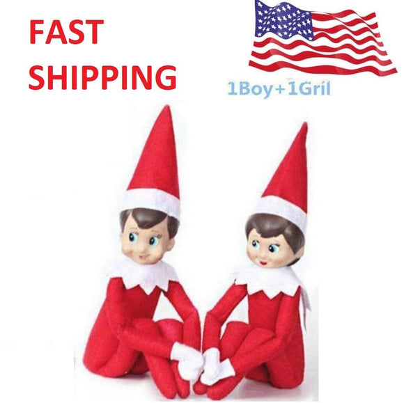 the elf on the shelf doll set , boy and girl