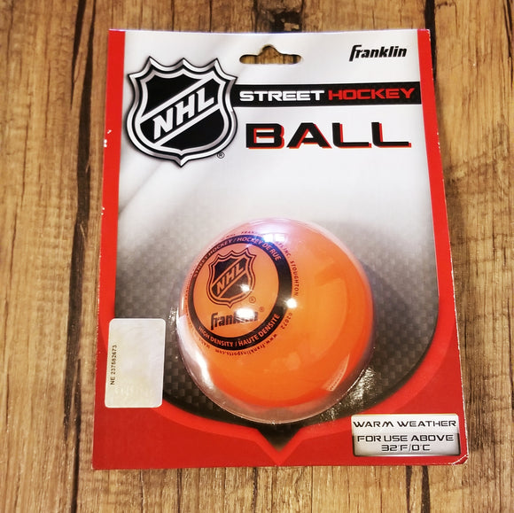 Franklin NHL Street Hockey Ball , orange warm weather