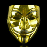 V for Vendetta Halloween Mask, guy fawkes anonymous GOLD