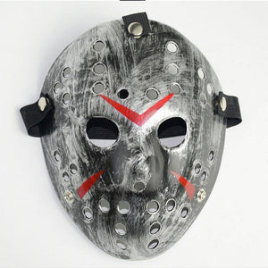 silver jason voorhees friday the 13th halloween hockey mask adult teen kids