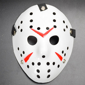 WHITE Friday The 13th Hockey Mask Jason Voorhees Costume Horror Movie Halloween - FREE 1-3 Day US Shipping