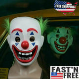 Joker Movie Mask with Green Hair Arthur Fleck Halloween Batman Scary Horror - FREE 1-3 Day US Shipping