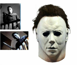 Michael Myers Latex Halloween Mask, 1978 horror scary movie full head adult size