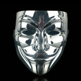 V for Vendetta Halloween Mask, guy fawkes anonymous SILVER