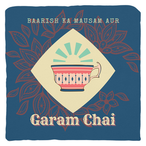 Barish ka mausam ur Garam Chai Throw Pillow
