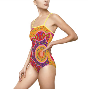 Basanti Pattern Women's One-piece Swimsuit