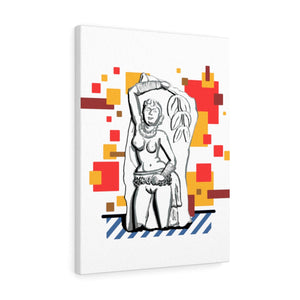 Ancient Indian Nude Pop Art on Canvas