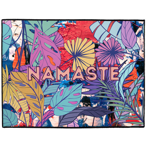 Namaste Abstract Floral Indoor/Outdoor Welcome Floor Mat