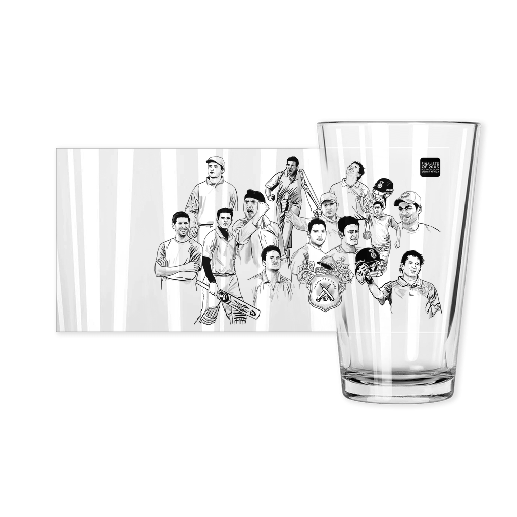 Worldcup 2003 India Squad Pint Glass