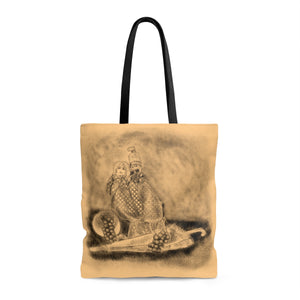 Rajasthani Puppets Still life peach Tote Bag