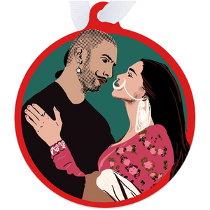 Bajirao Mastani Bollywood Couple Metal Ornament