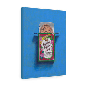 Still life with Mysore Sandal Soap on Canvas