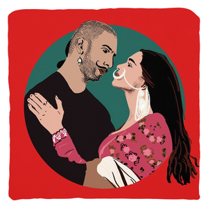 Bajirao Mastani Bollywood Couple Throw Pillow