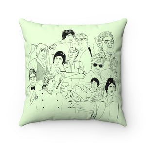 Shehenshah Spun Polyester Square Pillow (Pista Green)