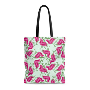 Floral Symmetry AOP Tote Bag