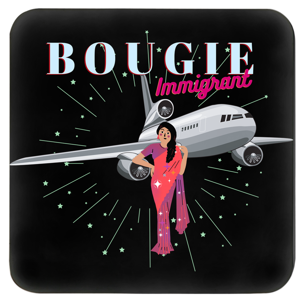Bougie Immigrant Set of 4 Coasters (Zarna Collection)