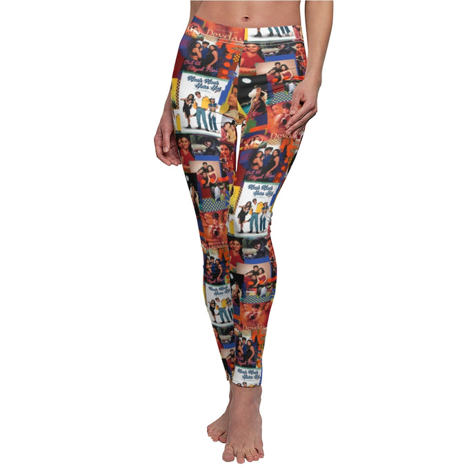 SRK Shah Rukh Khan Vintage Collage Women's Cut & Sew Casual Leggings