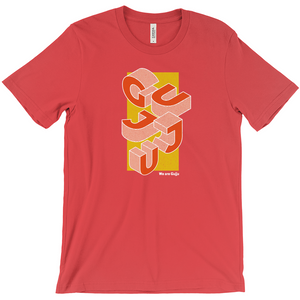 Proud Gujju Isometric Edgy Crew-neck T-shirt