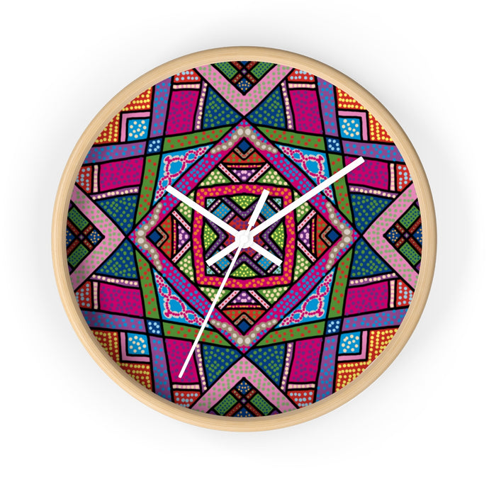 Folk pop Wall clock