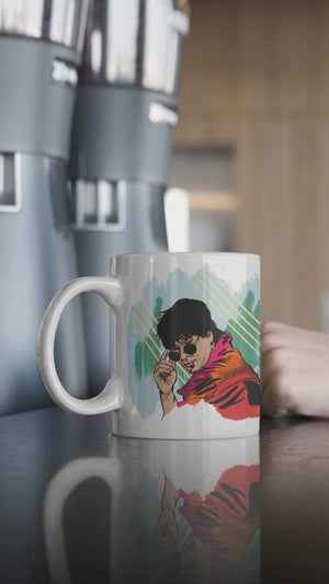 SRK Young Shah Rukh Khan Accent Mugs