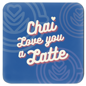 Cheesy Chai Puns Coasters (Set of 4)