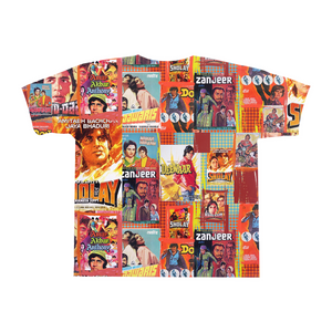 Amitabh Vintage Bollywood Posters All-Over Print T-Shirts