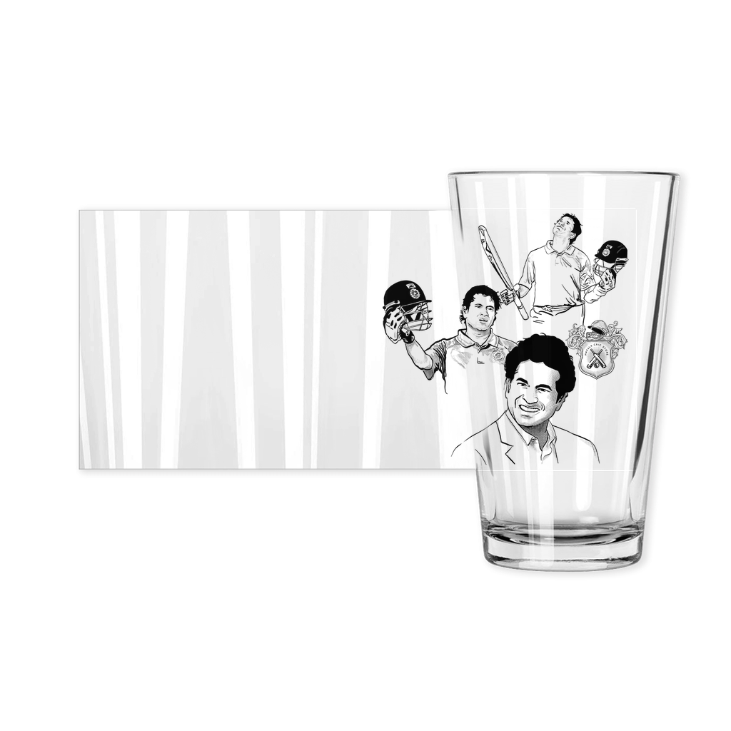 Sachin Tendulkar Cricket India Squad Pint Glass