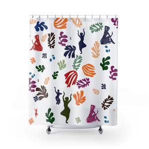Floral Natyam Shower Curtains