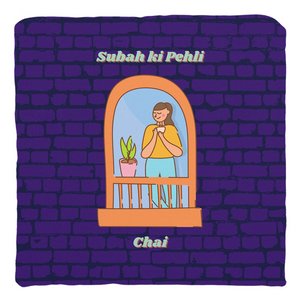 Subah ki Pehli Chai Throw Pillow