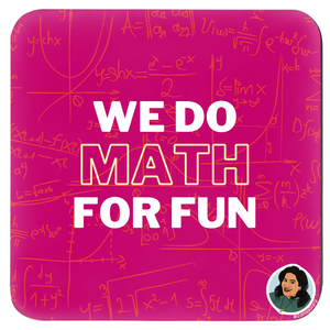 We do Math for Fun Set of 4 Coasters (Zarna Collection)