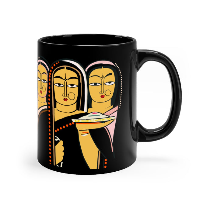 Durga Pooja Black Coffee mug 11oz
